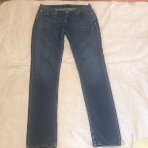 Levi 524 Superlow blue Faded Skinny Jeans 9L